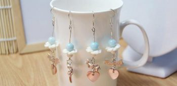 Dangle Earrings with Beads