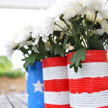 Patriotic Upcycled Cans