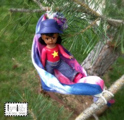 Doll Hammocks from Recycled Tees