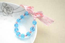 Ribbon and Bead Bracelet
