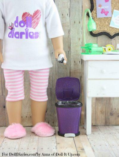 Doll-Sized Trash Can