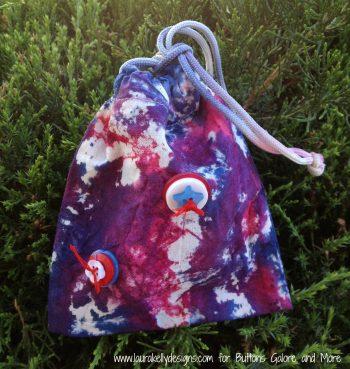 Tie-Dye Button Bags