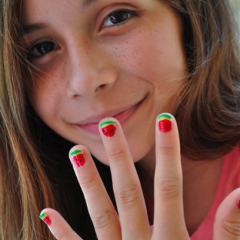 Easy Watermelon Manicure