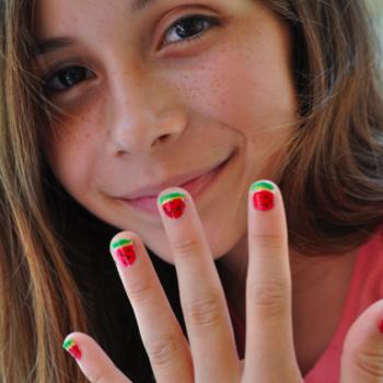 Easy Watermelon Manicure