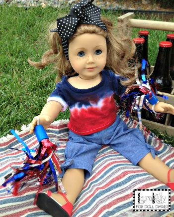 Doll-Sized Patriotic Tie-Dye Tees