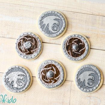 Viking Shield Sugar Cookies