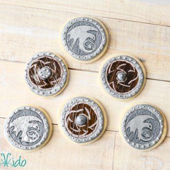 Viking Shield Sugar Cookies