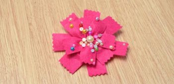 Felt Flower Hair Tie