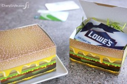 Printable Cheeseburger Gift Box