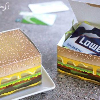Printable Cheeseburger Gift Box