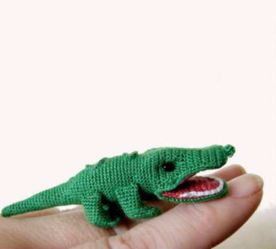 Mini Crocheted Alligator
