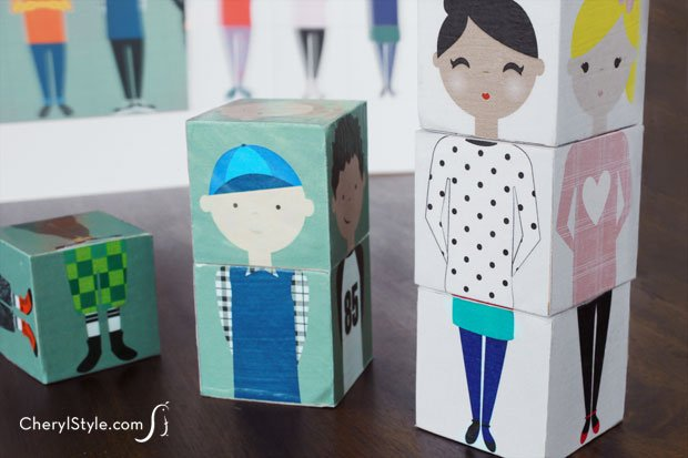 Wooden Block Dolls