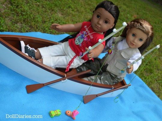 Doll-Sized Fishing Pole and Fish