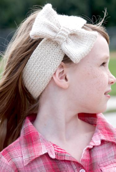 Knit Bowtie Headband