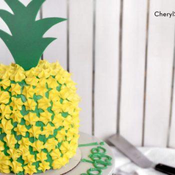 Pineapple-shaped Cake