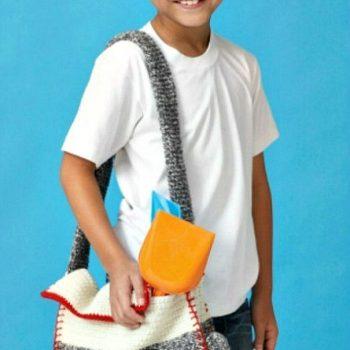 Crochet Sock Monkey Shoulder Bag