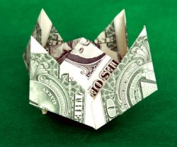Dollar Bill Origami Crown