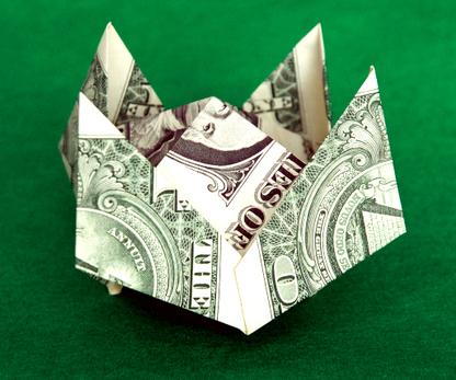 Dollar Bill Origami Crown