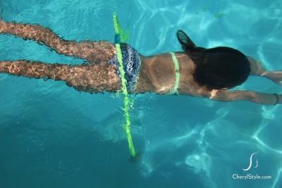 Underwater Hula Hoop Obstacle Course