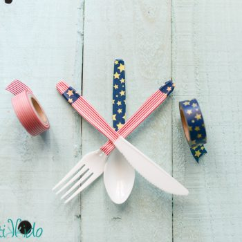 Washi Tape Plastic Silverware