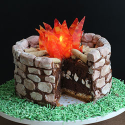 Fire Pit S mores Cake Fun Family Crafts