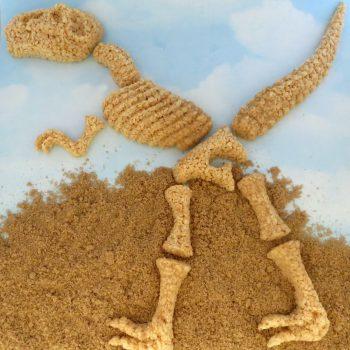 Rice Krispie Treat Dinosaur Bones