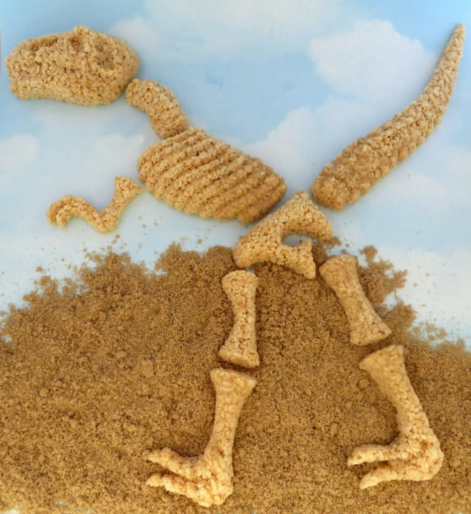 Rice Krispie Treat Dinosaur Bones