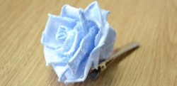 Fabric Rose Hair Clip