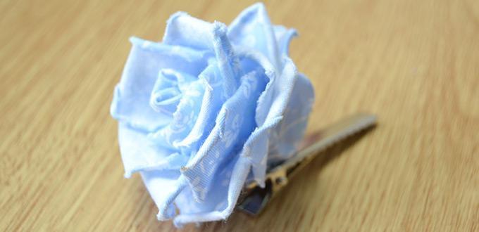 Fabric Rose Hair Clip