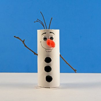 Cardboard Tube Olaf Craft from Frozen