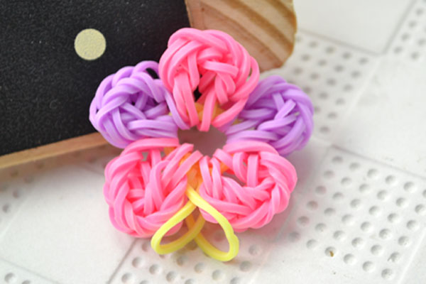 rubber band flower