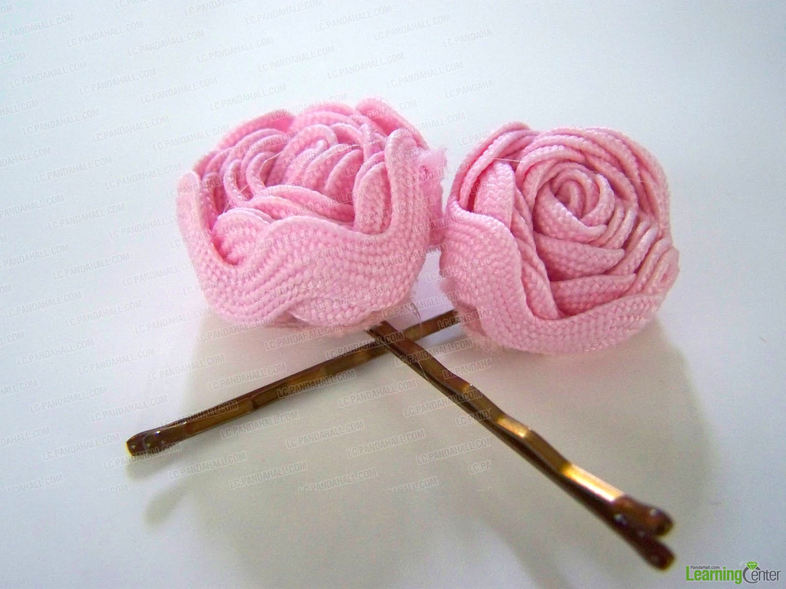 Ribbon Flower Hair Pins