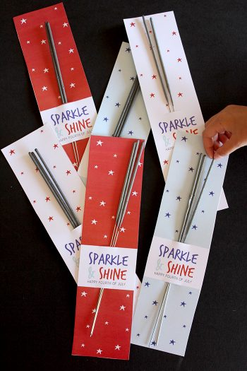 Fourth of July Sparkler Printable