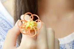 Sunflower Rubber Band Ring
