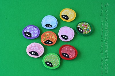 Ladybug Craft - Magnets from Scrap Fabric 5