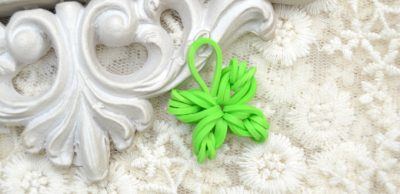 Four-leaf Clover Rubber Band Charm