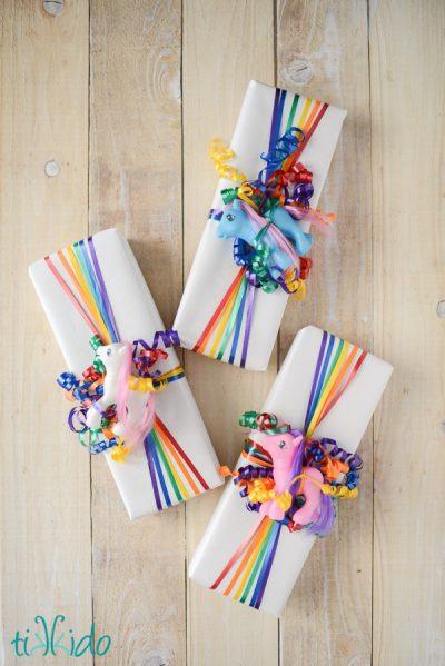 Rainbow Ribbon Gift Wrap