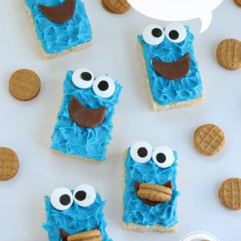 Cookie Monster Rice Krispie Treats