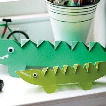 Crocodile Paper Craft