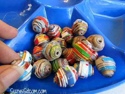 Cereal Box Beads