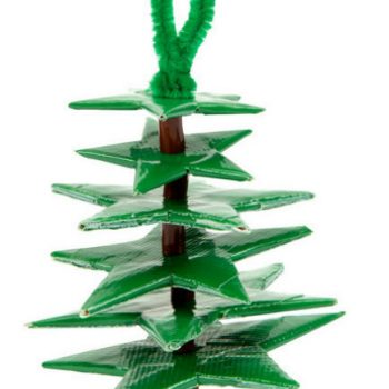 Duct Tape Christmas Tree Ornament