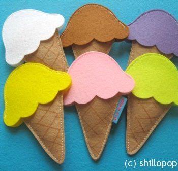 Felt Ice Cream Scoop Sets