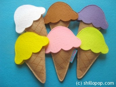 Felt Ice Cream Scoop Sets