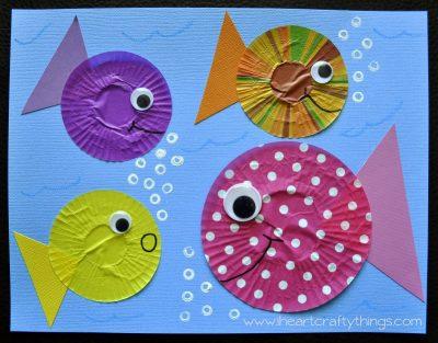 Cupcake Liner Fish