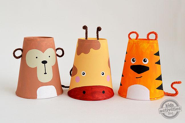Foam Cup Safari Animals