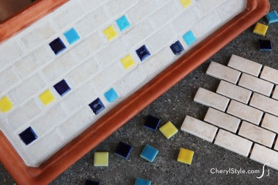 Easy Mosaic Tile Tray