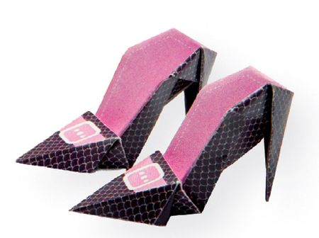 High-heeled Origami Shoes