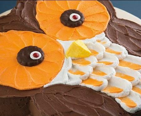 Big-Eyed Owl Cake