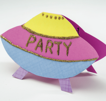 Spaceship Kids Party Invitation