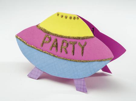 Spaceship Kids Party Invitation